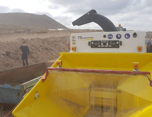 Nueva trituradora con sistema de triturado mixto en Lanzarote