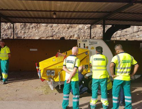 Entrega de trituradora en Las Palmas de Gran Canaria